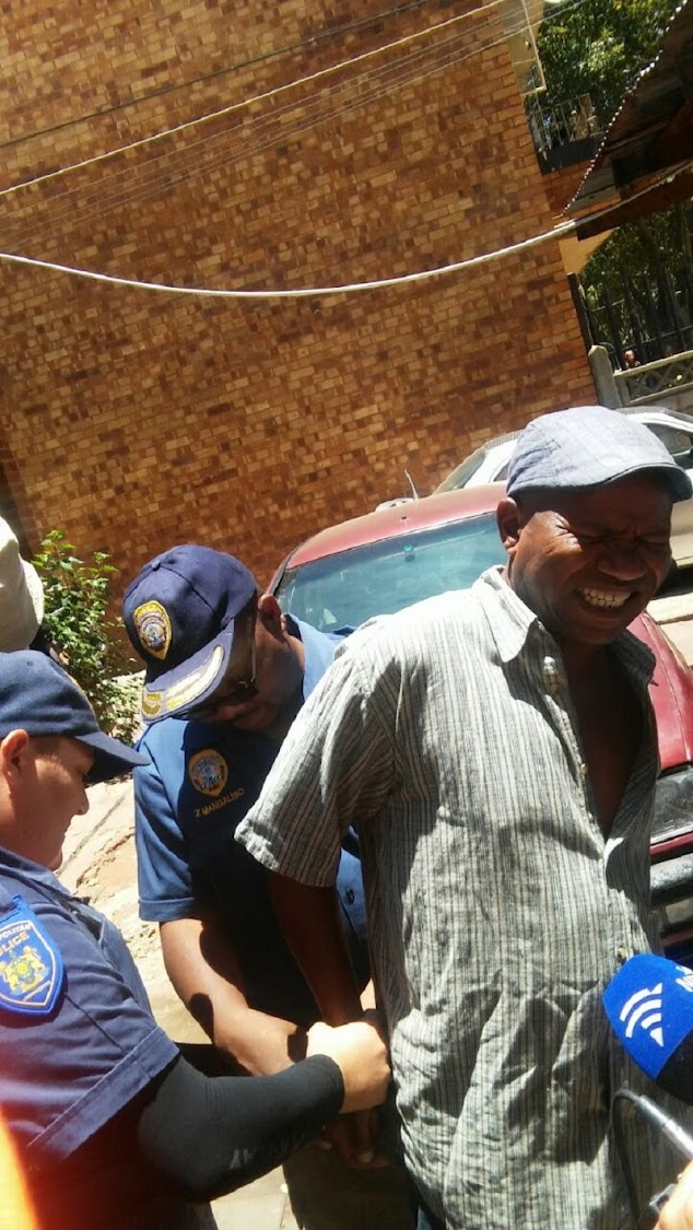 JMPD officers arrest a man after finding an illegal electricity connection at his house. He begged the mayor promising to pay but he was arrested.