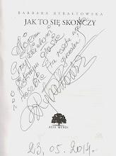 Photo: Dedykacja Basi Rybałtowskiej na najnowszej swojej książce.