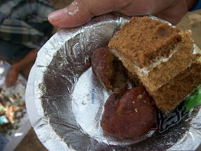 Photo: We also stop on the way to relish the speciality sweet dish from Orissa - Chanachilli