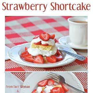 Moist Vanilla Strawberry Shortcake