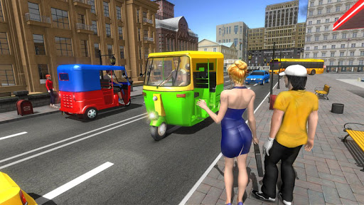 Modern Tuk Tuk Auto Rickshaw: Free Driving Games screenshots 7