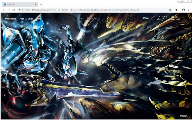 Overlord HD Wallpapers Anime New Tab Themes