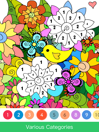 Screenshot for Paint.ly Color by Number - Fun Coloring Art Book in United States Play Store