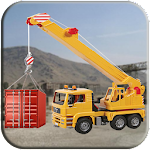 Factory Cargo Crane Simulation Icon