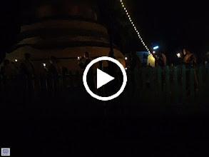 Video: Buddha Day -- Walking around the Stupa (where dog napped) - Nuns then monks