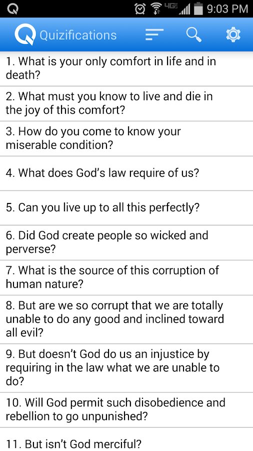 Heidelberg Catechism Quizzer- screenshot