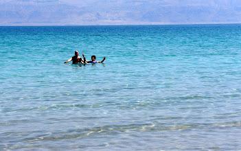 Photo: Dead Sea floating