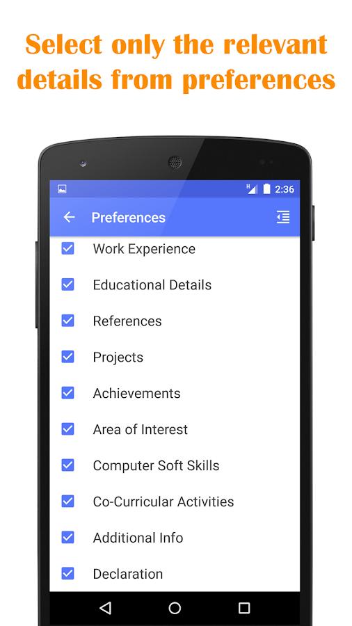 quick resume builder screenshot - Quick Resume Builder