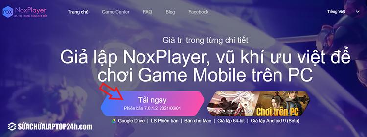 Cài đặt trình giả lập NoxPlayer