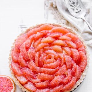 Grapefruit Tart (Gluten Free, Paleo + Refined Sugar Free).