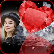 Diamond Heart Photo Frame