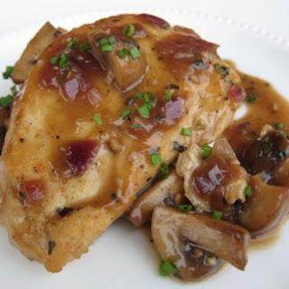 Weight Watchers Chicken Breasts with Cremini Mushroom Sauce