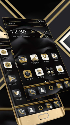 Black Gold X Launcher 1.1.7 6