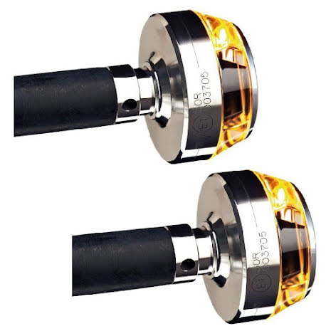 M-Blaze Disc Led blinkers , polerad aluminium, par