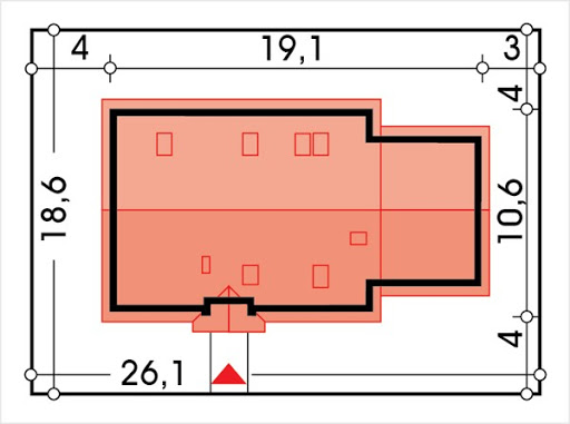 Azalia II wersja D z podwójnym garażem - Sytuacja