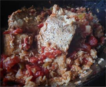 Pork Chop Spanish Rice