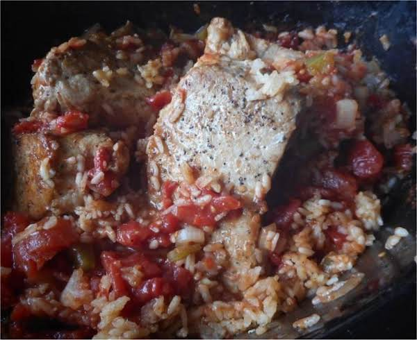 Pork Chop Spanish Rice Recipe