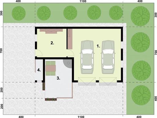 G321 - Rzut garażu