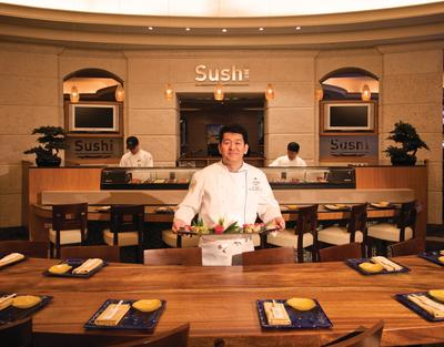 Photo: Many Loews Hotels offer impeccable onsite dining options, such as Sushi SoBe at Loews Miami Beach Hotel.