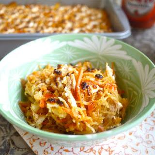Creamy Buffalo Chicken Spaghetti Squash Casserole (paleo, GF)
