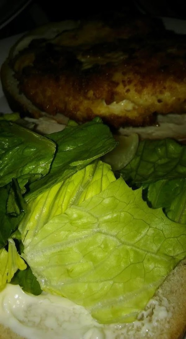 Put lettuce on one slice of bread and a chicken breast on the other...