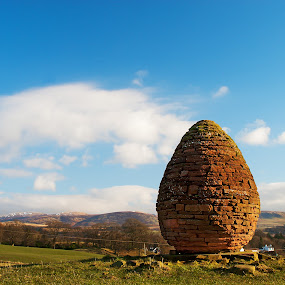 Cairn View by Kenny Routledge - Travel Locations Landmarks ( blue sky, dumfries and galloway, thornhill, the cairn, andy goldsworthy, penpont, landscape, sculptor, kenny routledge )