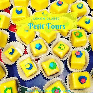No Bake Lemon Glazed Petit Fours.