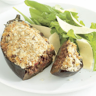 Stuffed Eggplant with Oregano Breadcrumbs