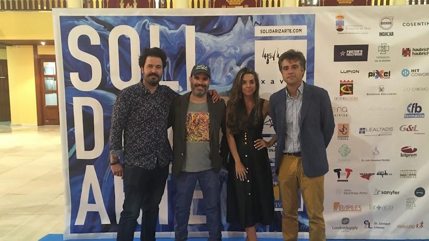 Javier Tortosa, Daniel Marín, Ingrid Haubrich y Pedro Jiménez.