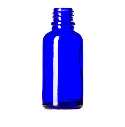 Glasflaska 30 ml - blå