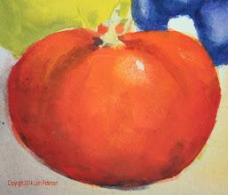 Photo: Watercolor - Detail on Tomato