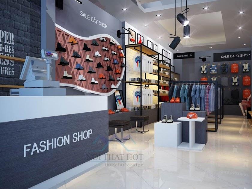 thiết kế shop thời trang sáng tạo đầy ấn tượng