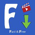 FastVid: Video Downloader for Facebook icon