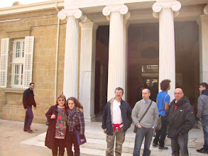 Photo: Wednesday 7th of March, 2012 In front of the entrance of Archaeological Museum in Nicosia