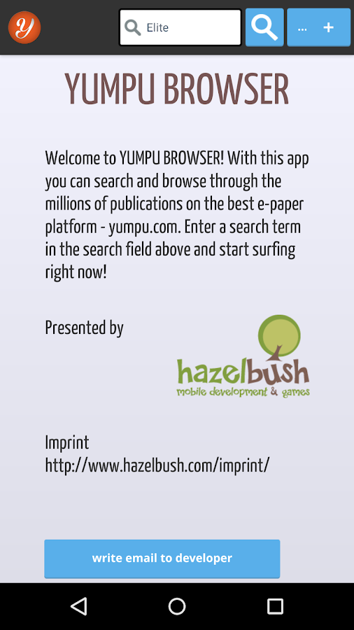 Yumpu Browser- screenshot