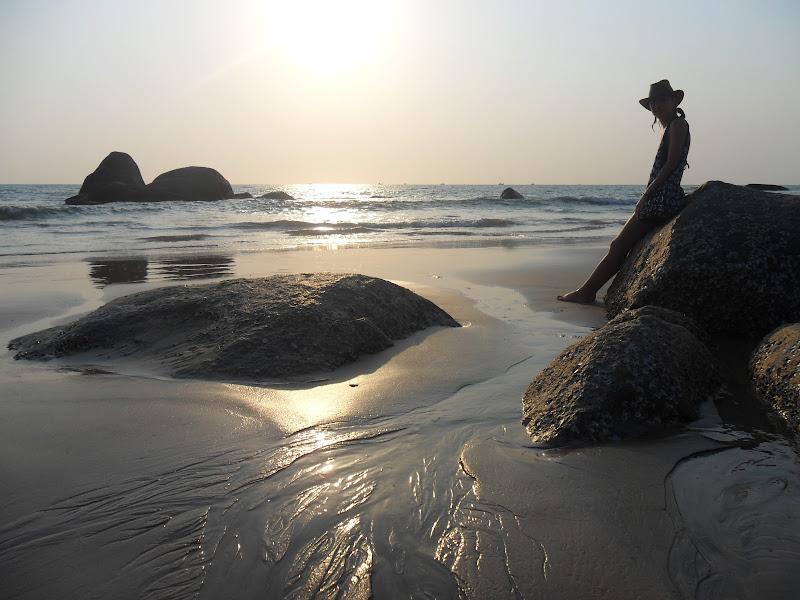 Figura controluce al tramonto di Marinazu