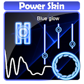 Blue glow Poweramp Skin