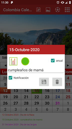 Colombia Calendario 2020 screenshots 2