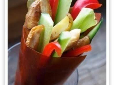 Chicken Souvlaki Cone In Tomato Gemwrap Recipe