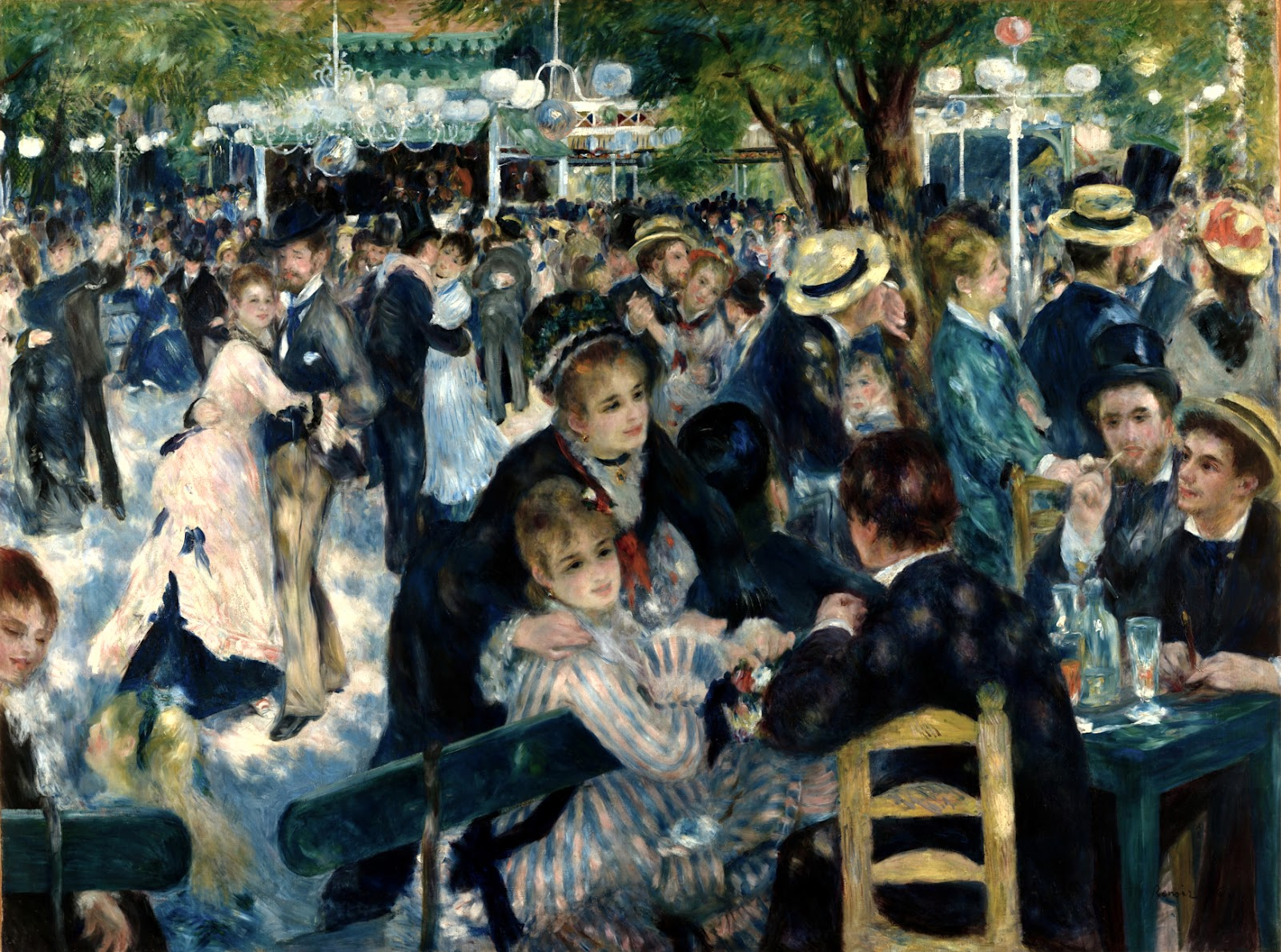 Bal du moulin de la Galette - Auguste Renoir (1876), oil on canvas