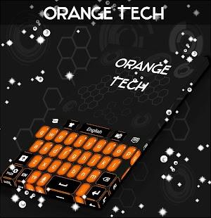 Téma oranžové klávesnice - náhled