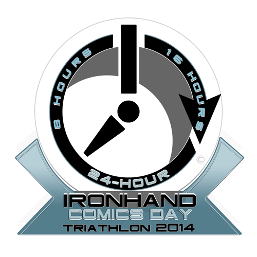 The IRONHAND Comics Day Triathlon Finishers Medallion