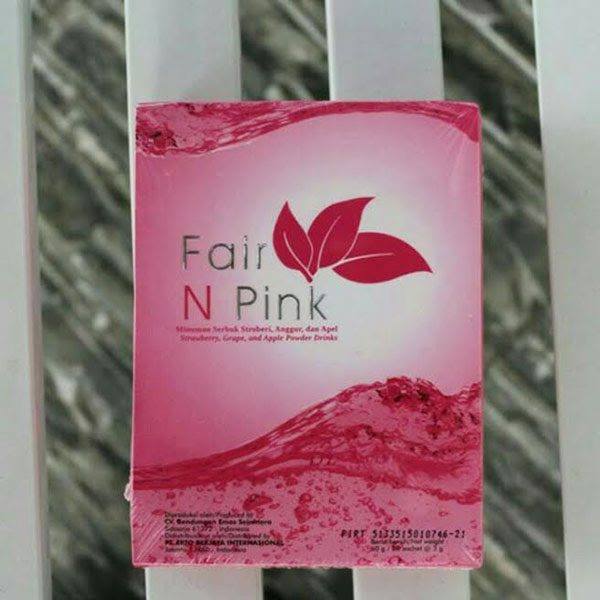 Minuman Kolagen dan Glutathione Fair N Pink Drink Isi 20 Sachet