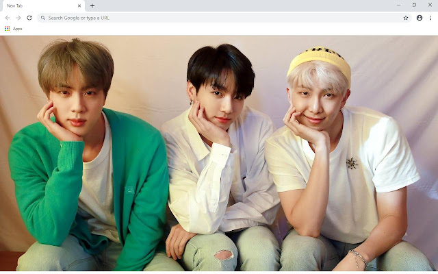 RM & Jin BTS Wallpapers and New Tab