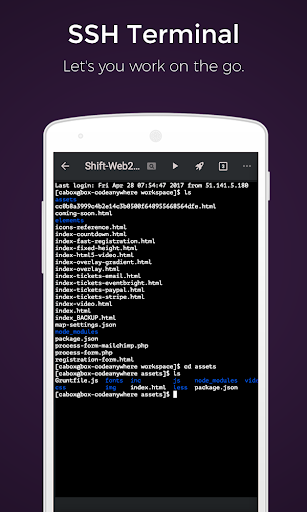 Download Codeanywhere (IDE, HTML, CSS, SSH, FTP, GitHub