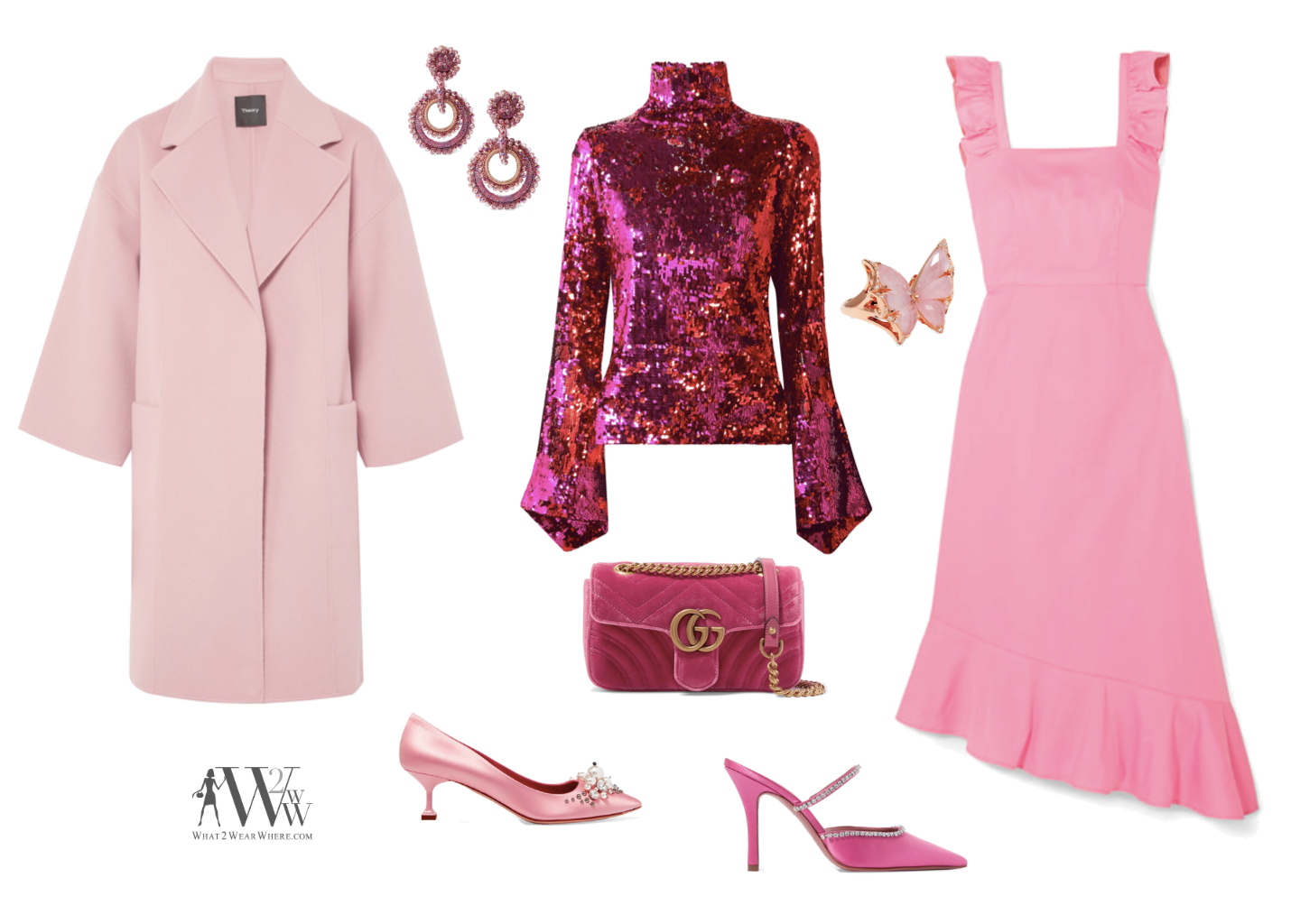"Hilary's picks are a perfect profusion.    ""I love pink! I can't say I wear a lot of it but do like to have a few pieces in my wardrobe to add a splash of color to my look."