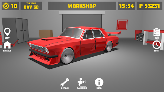 Retro Garage – Car Mechanic Simulator Mod Apk (Unlimited Money) 1