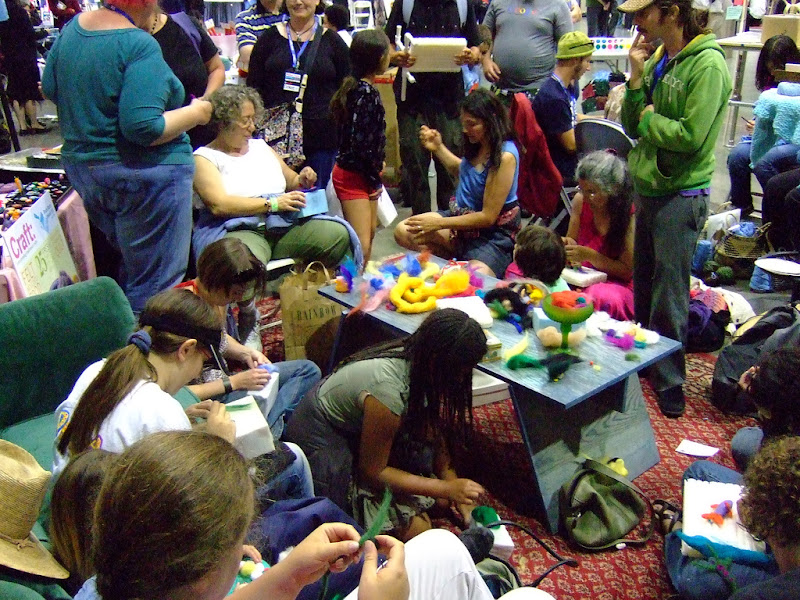 Photo: The first glorious Needlefelting Playground at Maker Faire Bay Area II.
