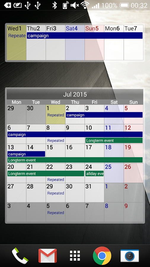 Calendar Pad- screenshot