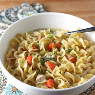 Creamy Greek Chicken Noodle Soup